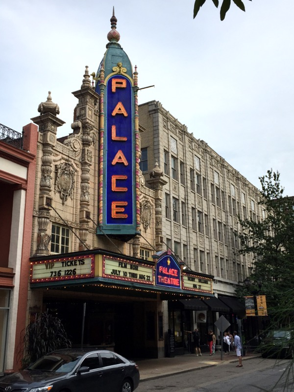 """The Palace Theater, where we caught a film noir event and took in """"A Touch of Evil."""" This is a magnificent cinema!"""