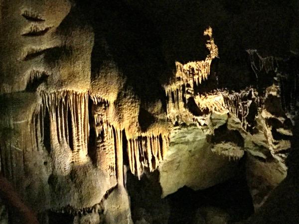 Stalactites 250-feet underground at Mammoth Caves