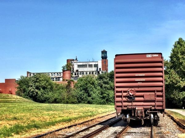 A walk along the Ohio River, train tracks, and an abandoned warehouse