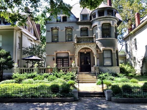 One of the many fine homes in the Belgravia Park section of Louisville.