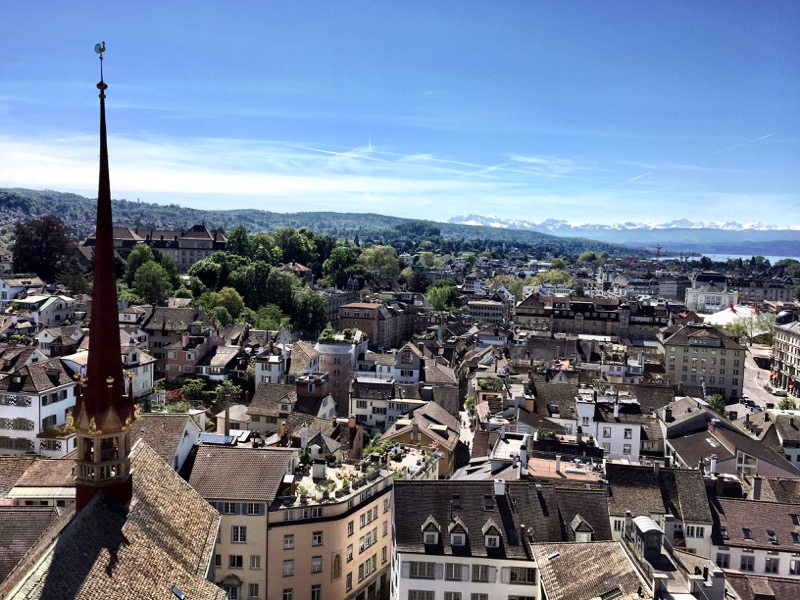 View from the Grossmünster