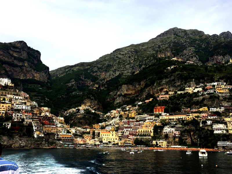 Departing Positano by boat