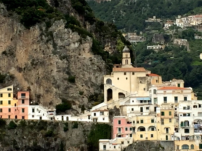 Amalfi is colorful and stunningly beautiful, too.