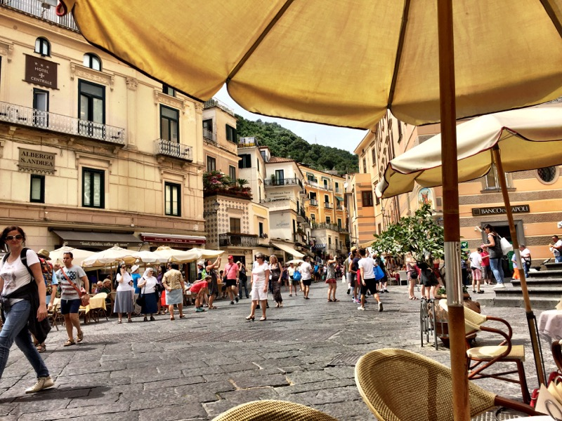 Our view while we enjoyed the pastry was of Piazza Duomo.