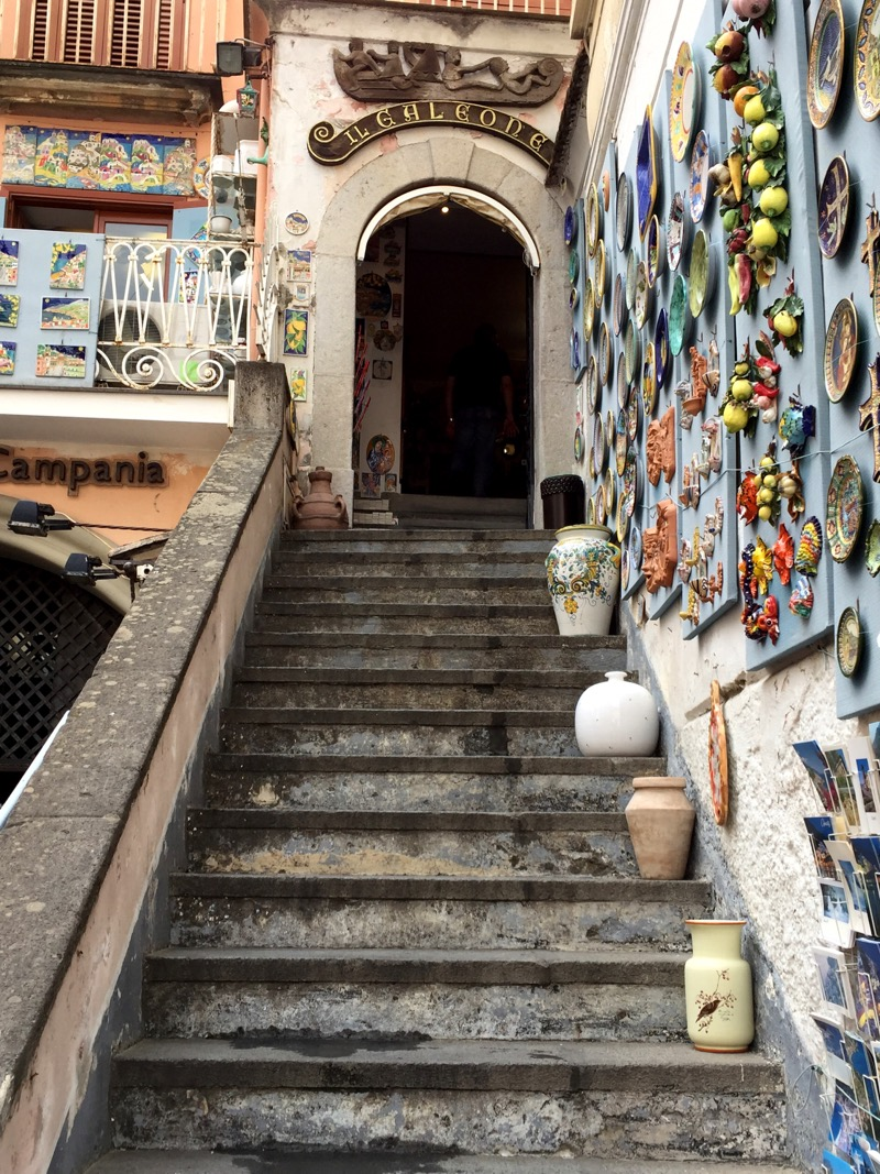 The Amalfi and Positano areas are known for their ceramics. We stopped in this quaint little shop and purchased a piece.