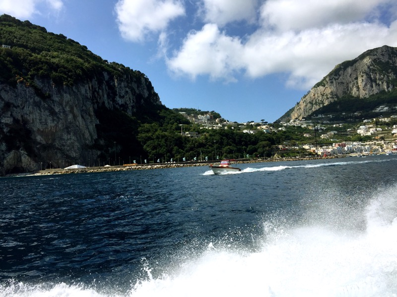 Approaching the harbor on Capri