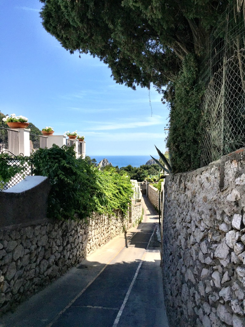 Much of Capri is made up of quaint narrow pedestrian streets.