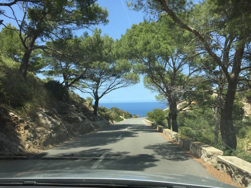 The view from our rental car on the way to Cap de Formentor