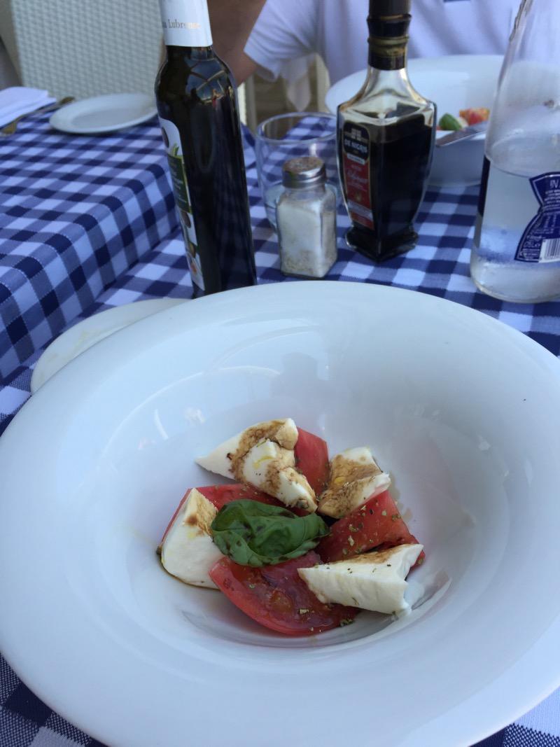 Caprese salad actually on Capri