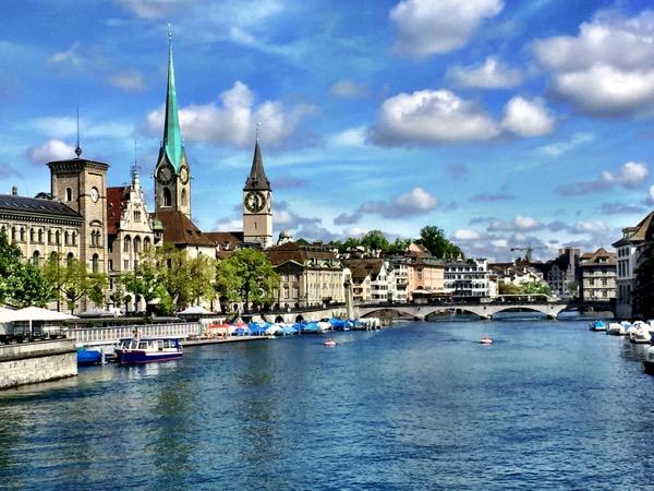 Zürich's riverfront
